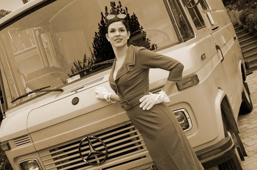 Der Mercedes-Bus weckt Erinnerungen an frühere Zeiten