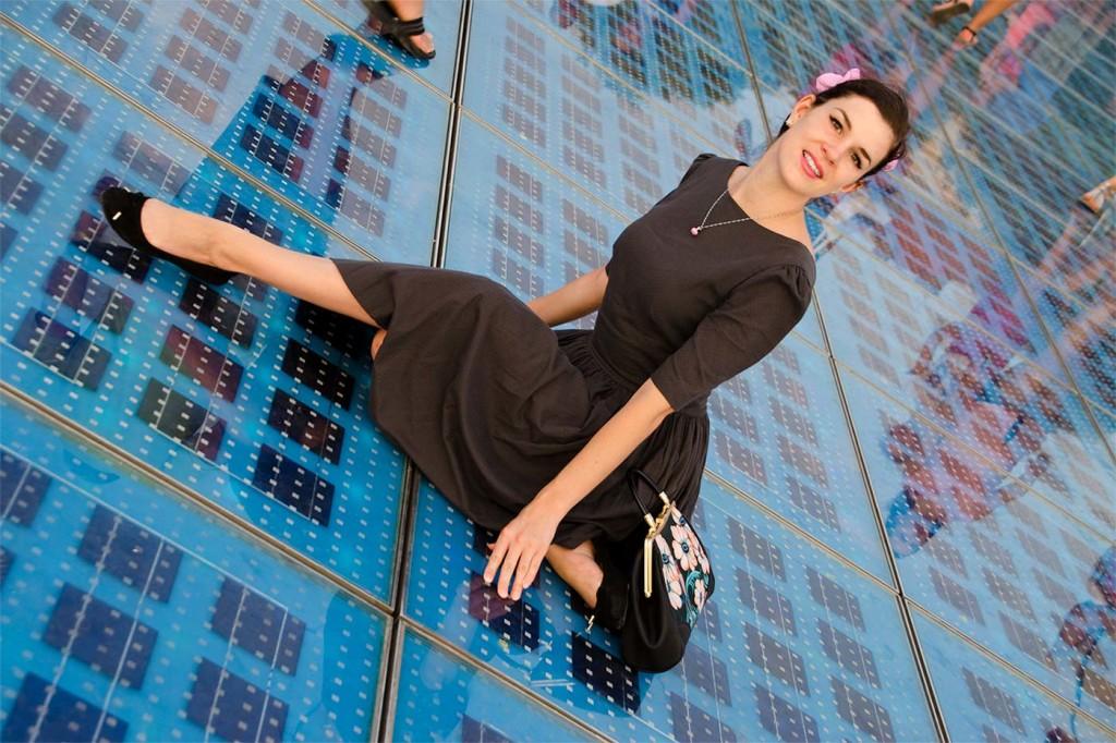RetroCat im Kleid von Von 50'