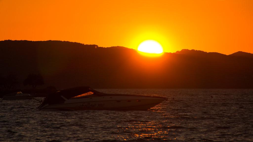 Ein traumhafter Sonnenuntergang in Kroatien