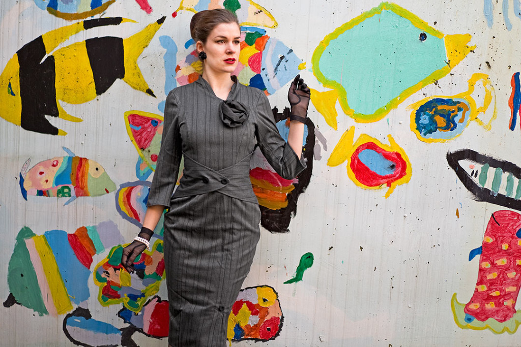 RetroCat im Idda van Munster 50's Wiggle Dress