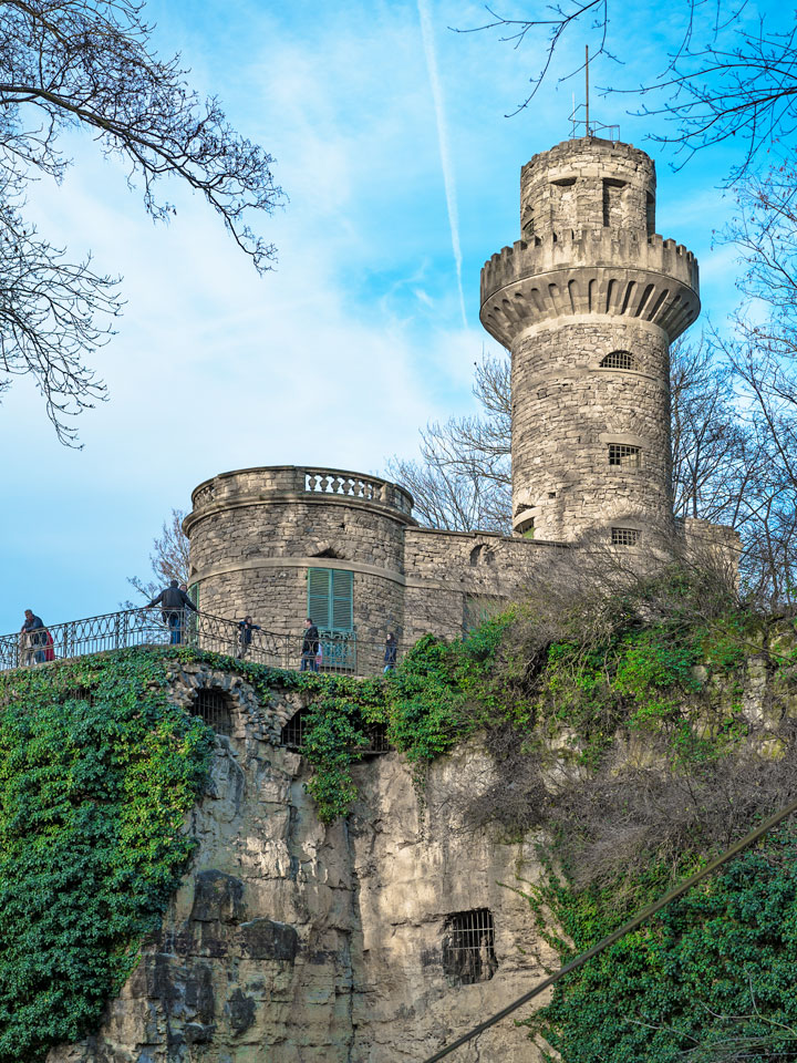 Der Rapunzelturm im Park der Residenz Ludwigsburg