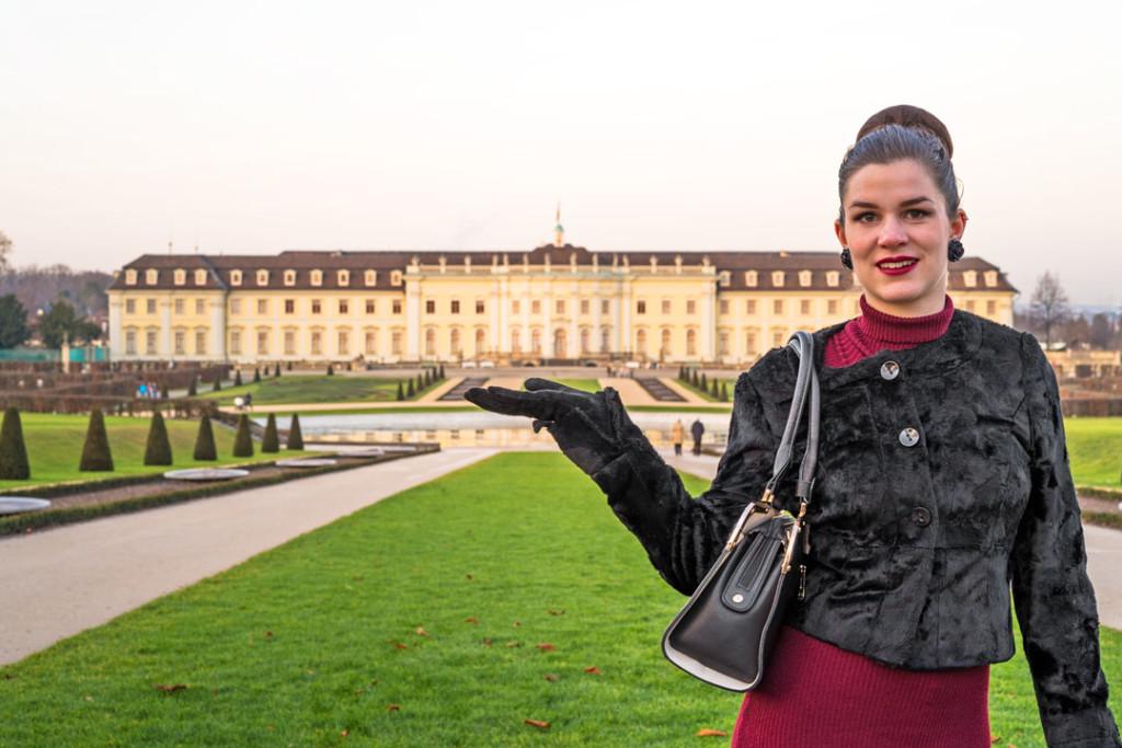 RetroCat vor dem Schloss Ludwigsburg