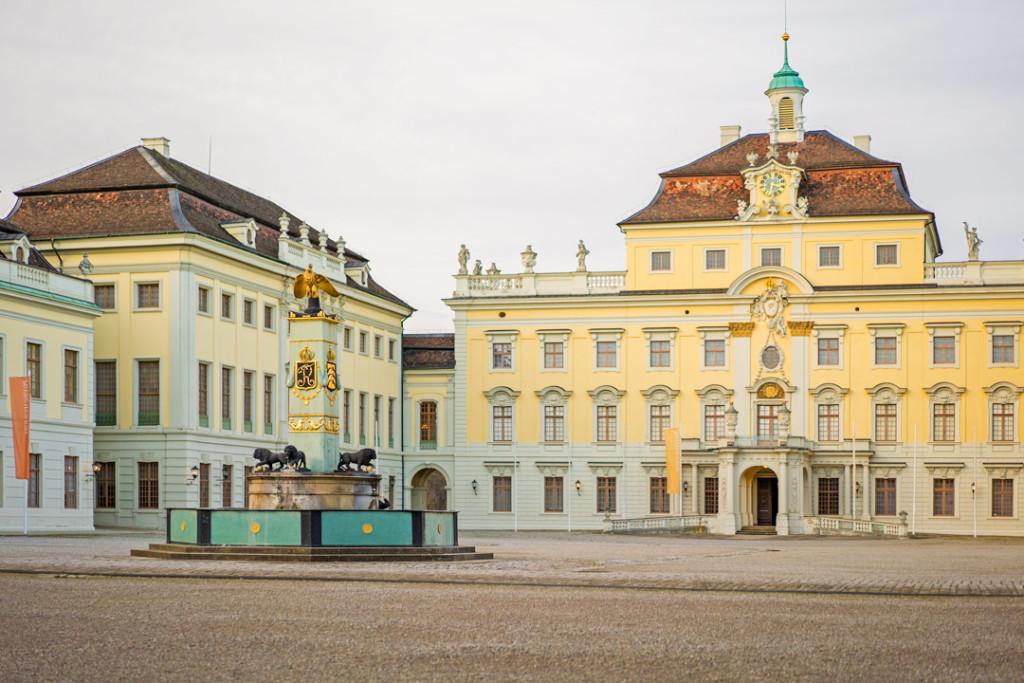 Der Hof der Residenz Ludwigsburg