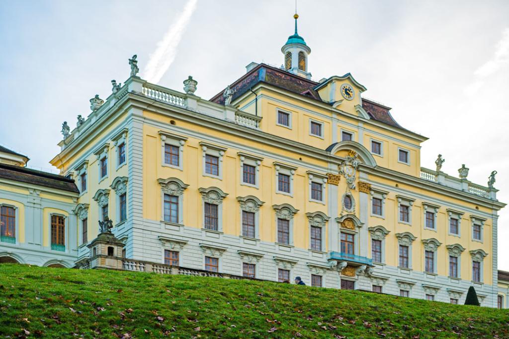 Die Rückseite der Residenz Ludwigsburg