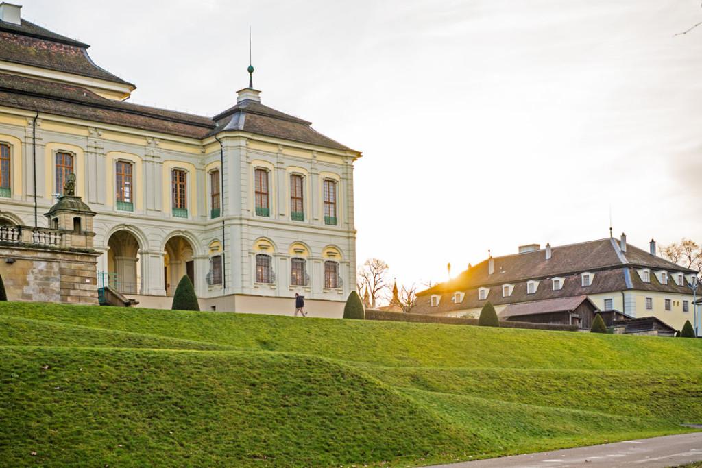 Die Residenz Ludwigsburg während der goldenen Stunde