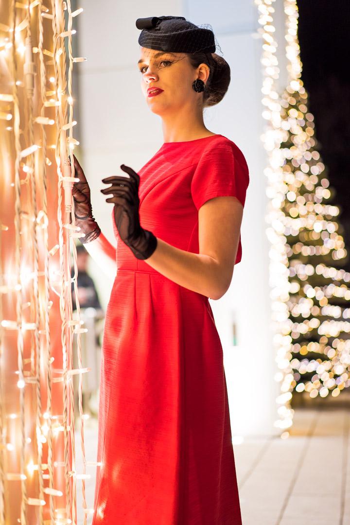 Rotes kleid fur weihnachten