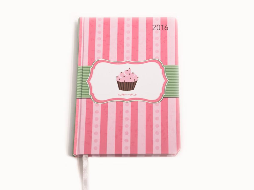 Ein Kalender für 2016 mit Cupcake-Motiv