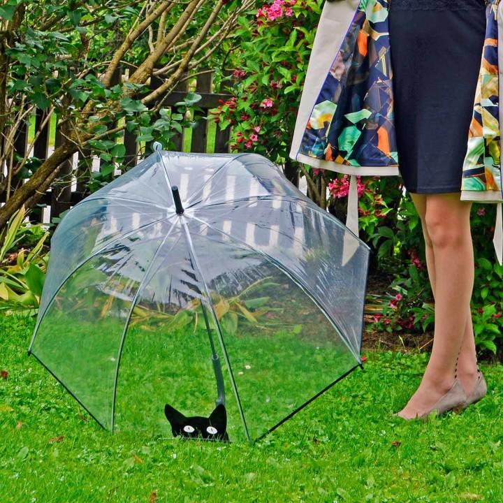 Der niedliche Regenschirm mit Katzenmotiv von So Rainy