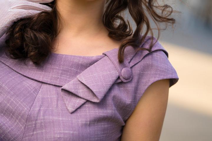 Das lila Kleid von Voodoo Vixen in der Detailansicht