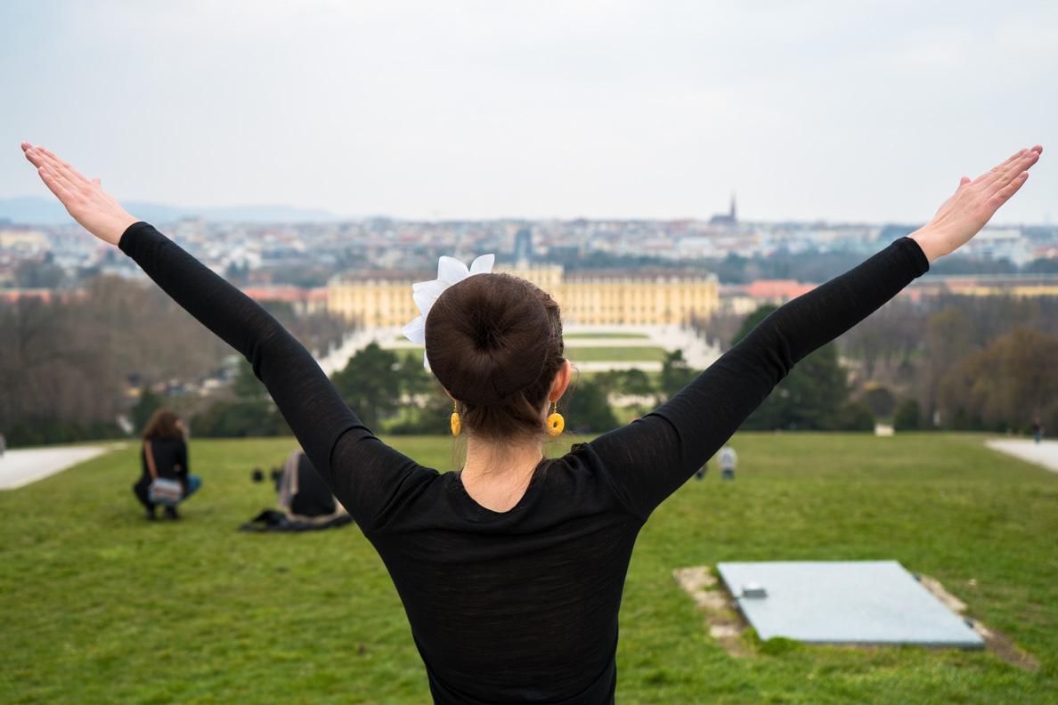 RetroCat im Schlosspark Schönbrunn mit toller Aussicht