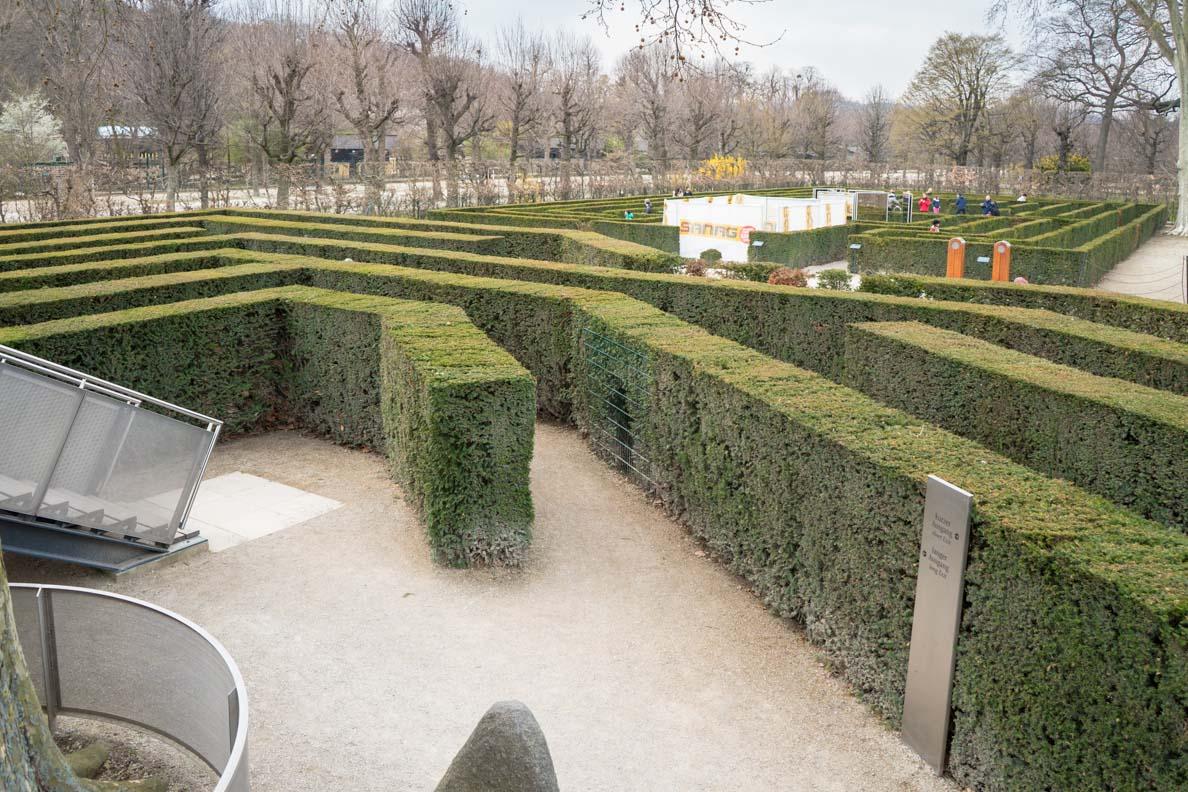 Der Irrgarten im Schlosspark von Schönbrunn