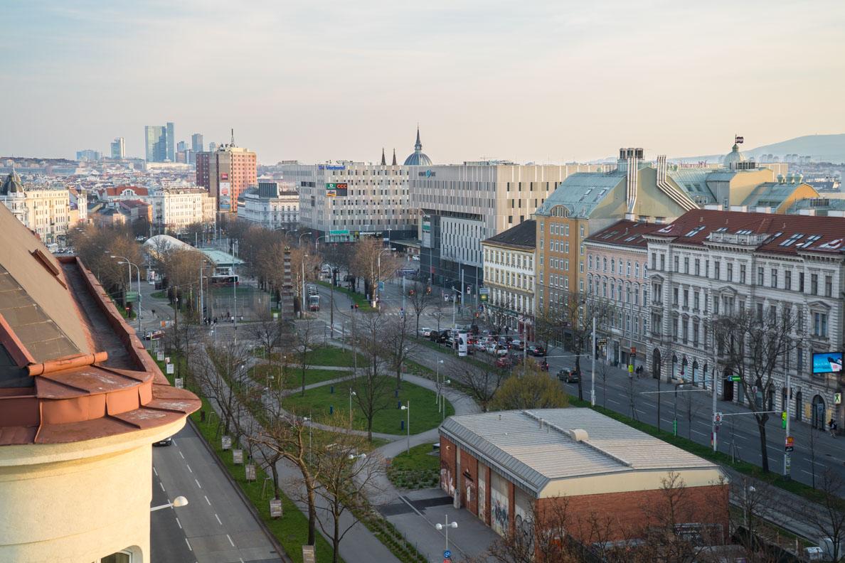 Ausblick von der Dachterrasse der Präsidentensuite