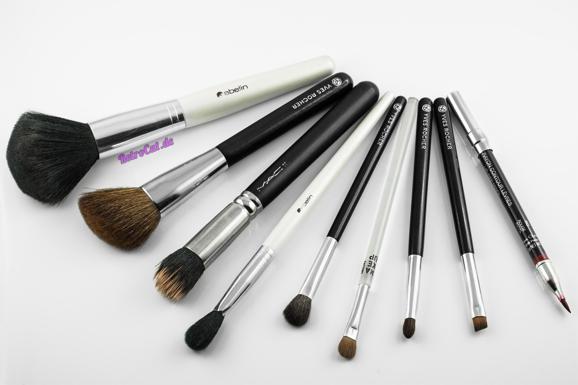 Make-up-Pinsel vor der Reinigung