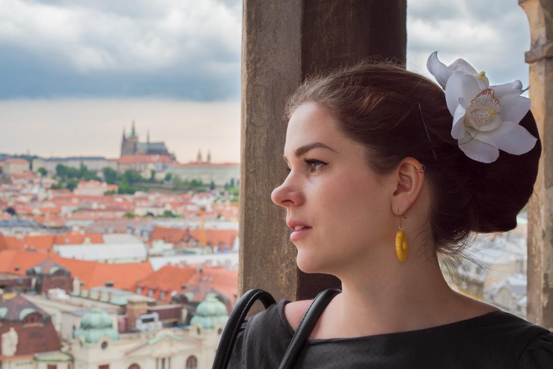 RetroCat auf dem Rathaus-Turm in Prag