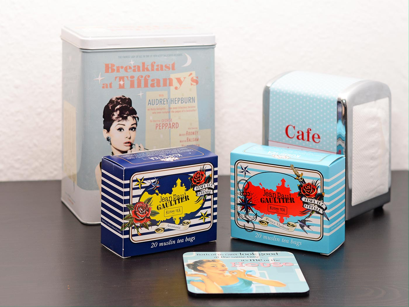 RetroCats Tee und Deko