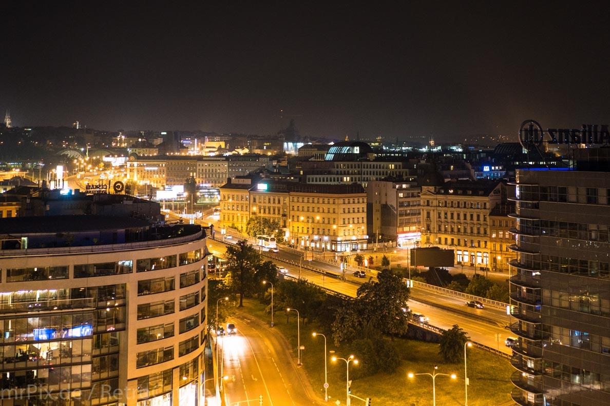 Ein Blick über Prag bei Nacht