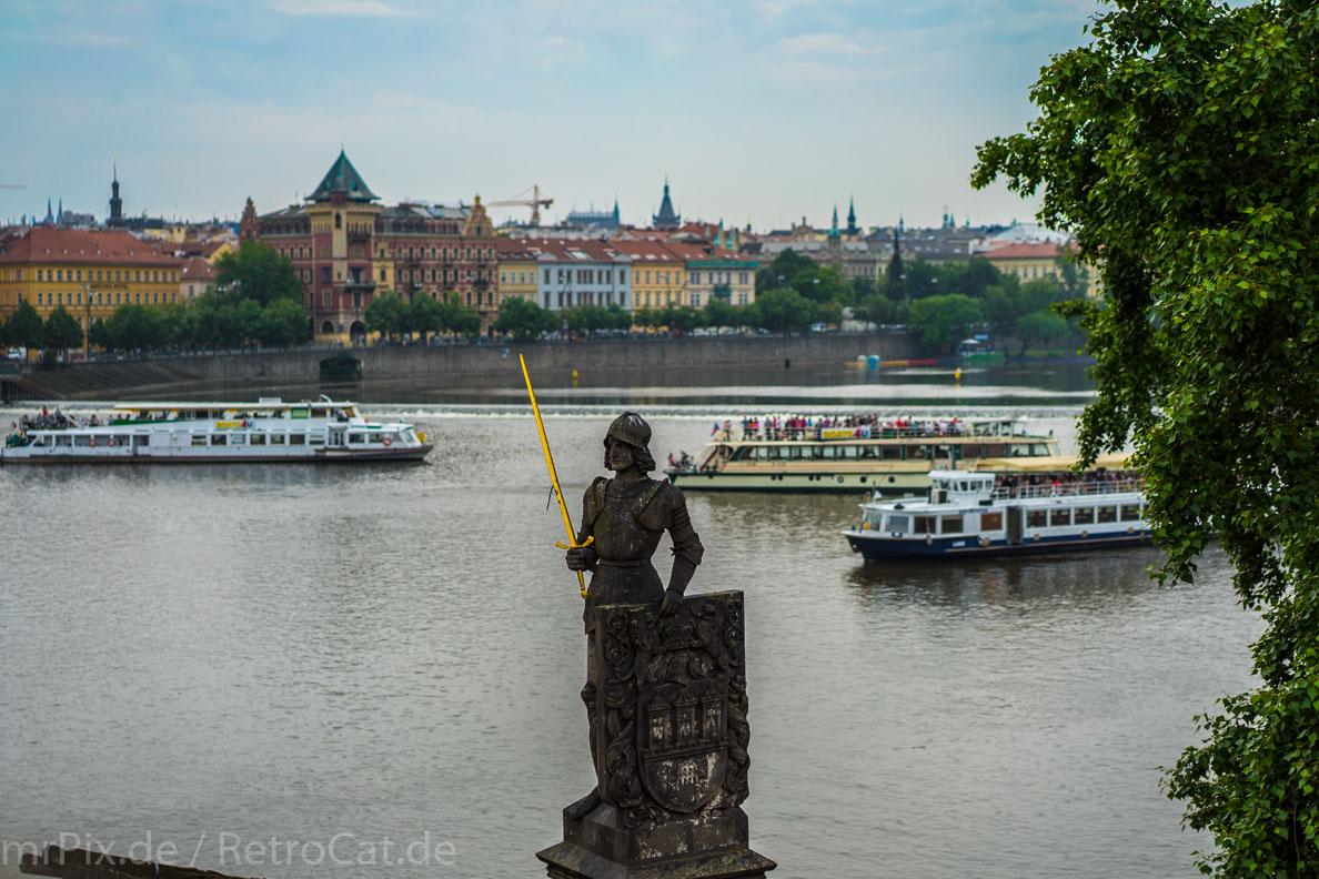 Touristen-Boote auf der Moldau