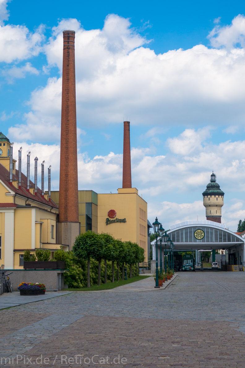 Die Urquell-Brauerei in Pilsen