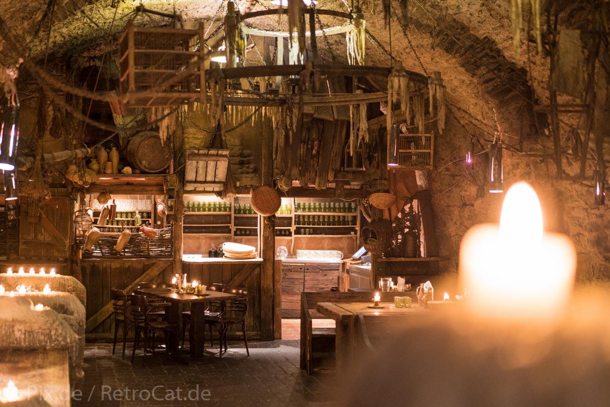 Ein mittelalterliches Restaurant in Prag