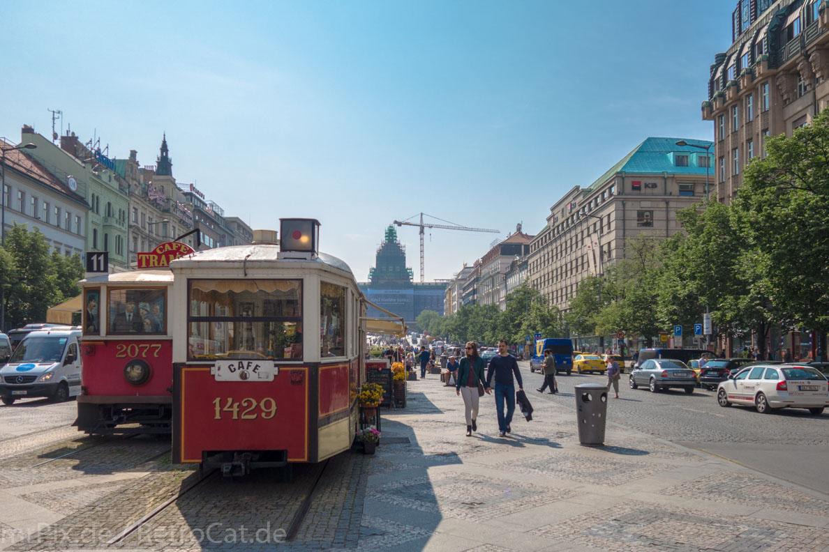 Der Wenzelsplatz in Prag
