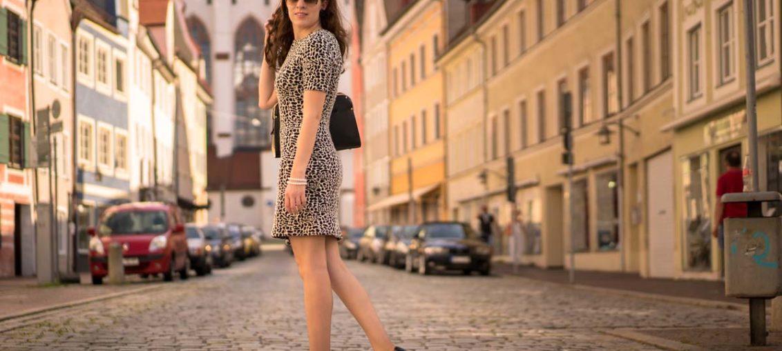 RetroCat mit einem Kleid von & Other Stories