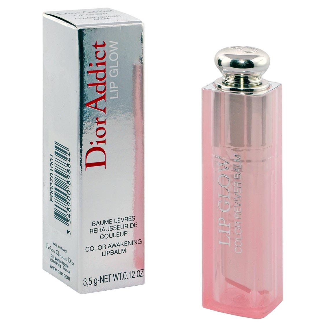 Der Dior Addict Lip Glow mit Verpackung