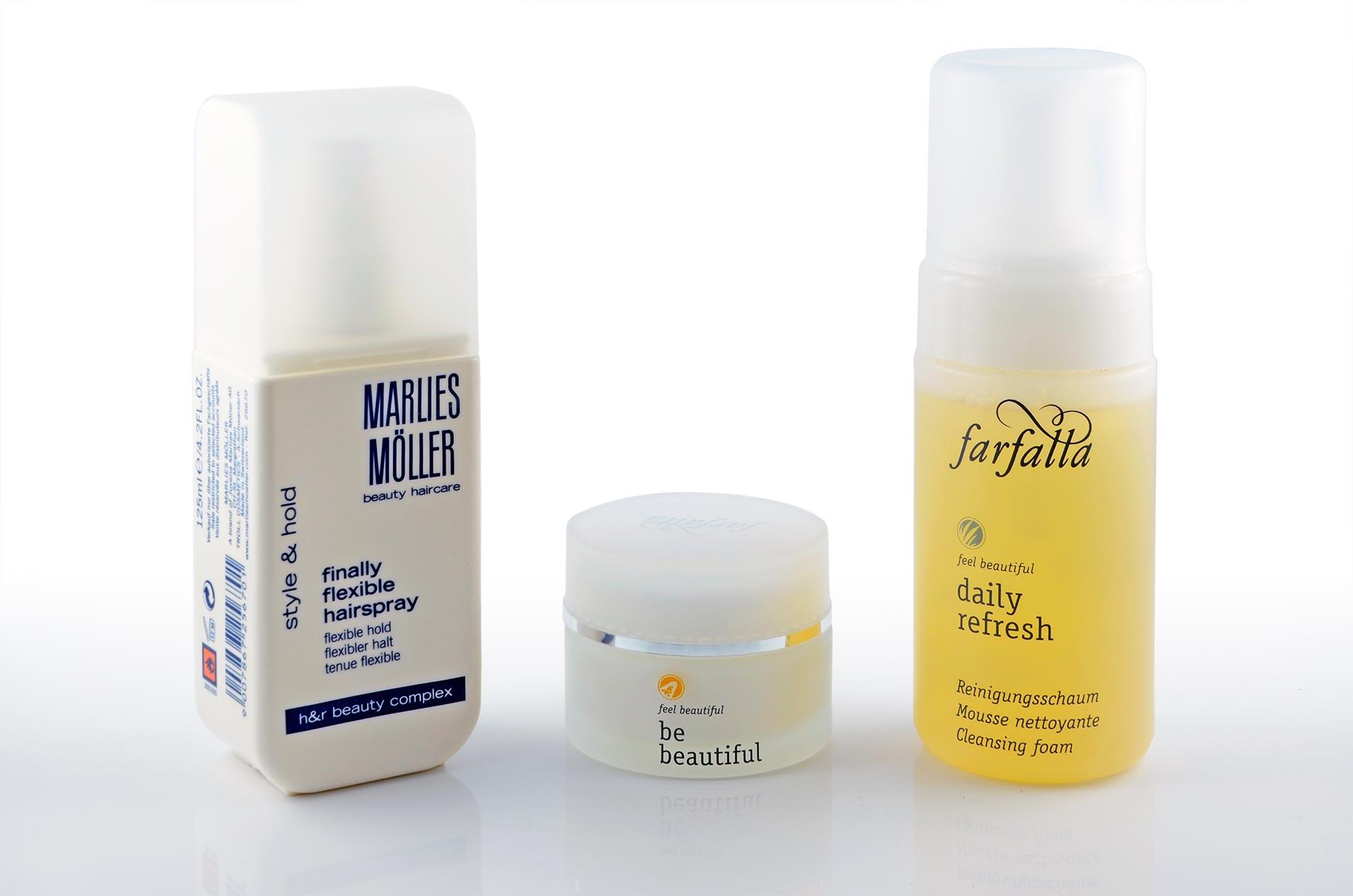 Haar- und Gesichtspflege-Produkte für Reisen