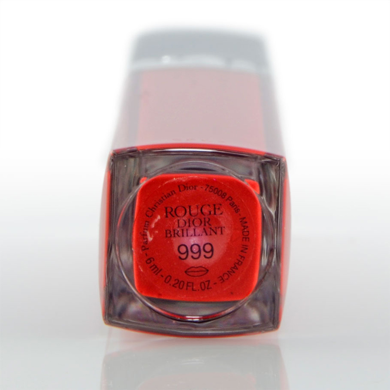 Das Rouge Dior Brillant Lipgloss in der Farbe Nr. 999