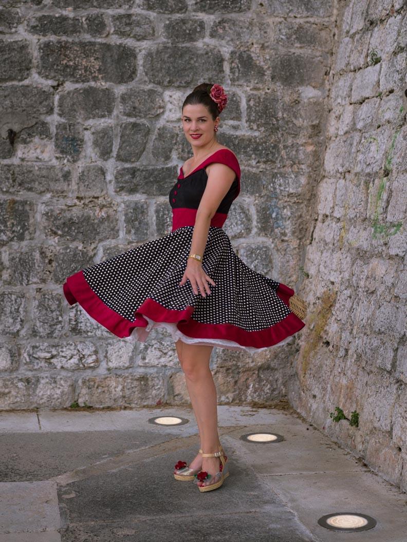 "RetroCat im Swing-Kleid ""Sylvia"" von BlackButterfly"