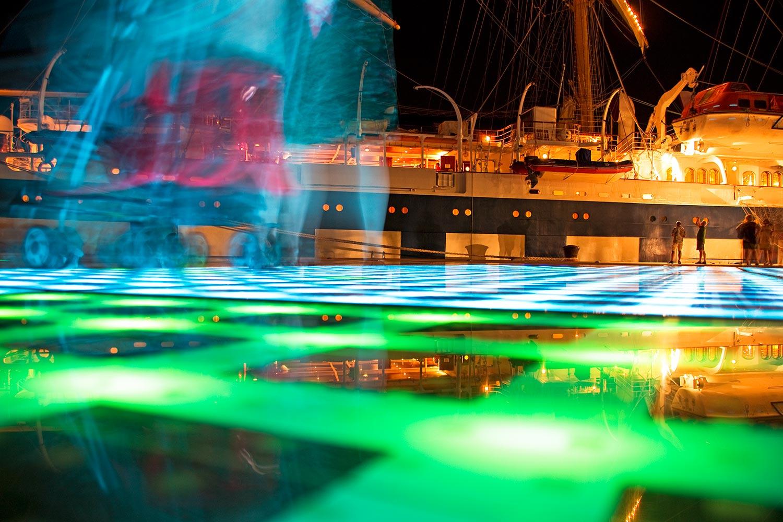 Das Lichtspiel bei Nacht in Zadar/Kroatien