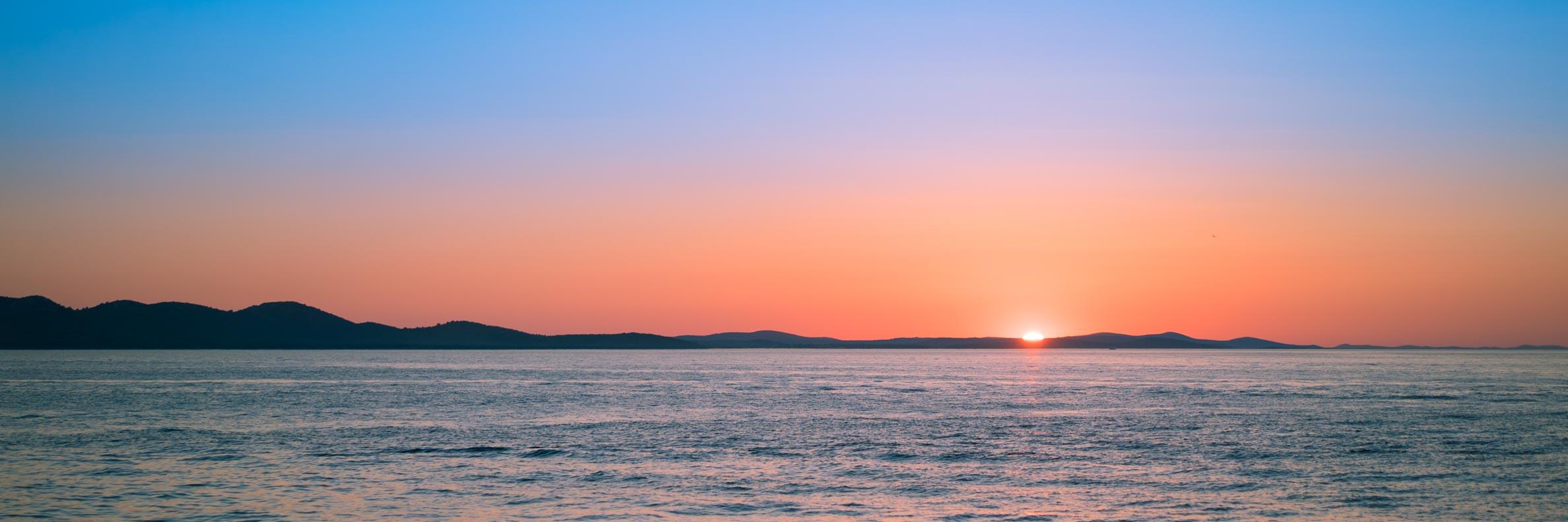 Der Sonnenuntergang in Zadar/Kroatien