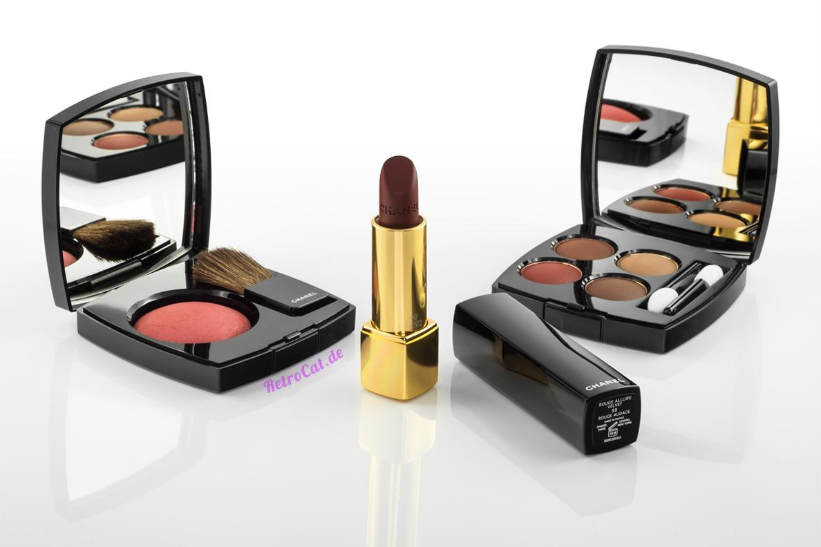 Rouge, Lidschatten und Lippenstift aus Chanels Make-up-Herbstkollektion 2016