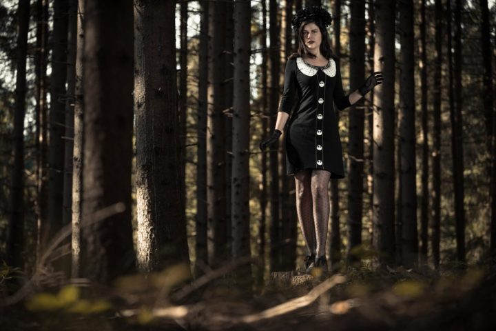 """An eerily beautiful Halloween Look with the """"Nightmare Before Christmas"""" Dress"""