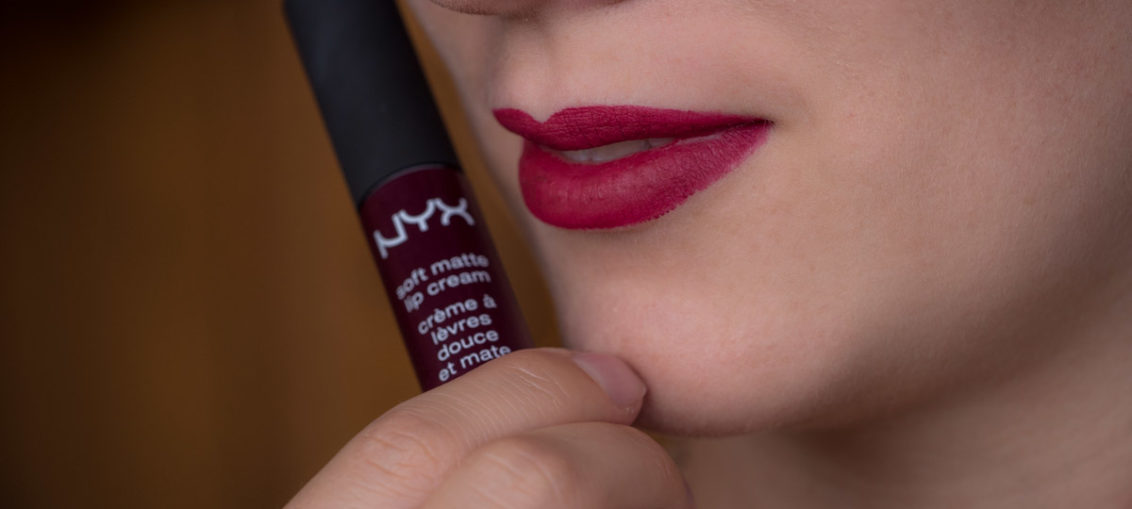 "Review: Beerige Lippen mit der NYX Soft Matte Lip Cream in ""Copenhagen"""
