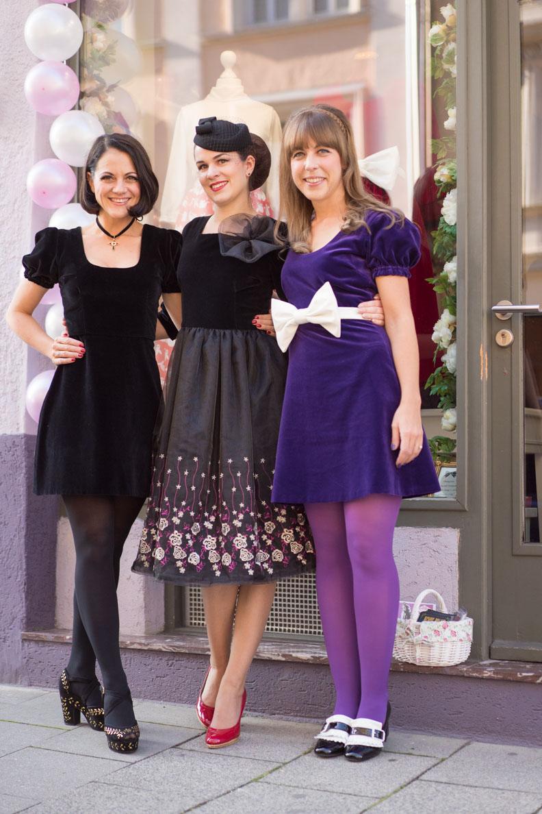 Nina von Maison Chi Chi Vintage, Vintage-Bloggerin RetroCat und Sara von Grünten Mode