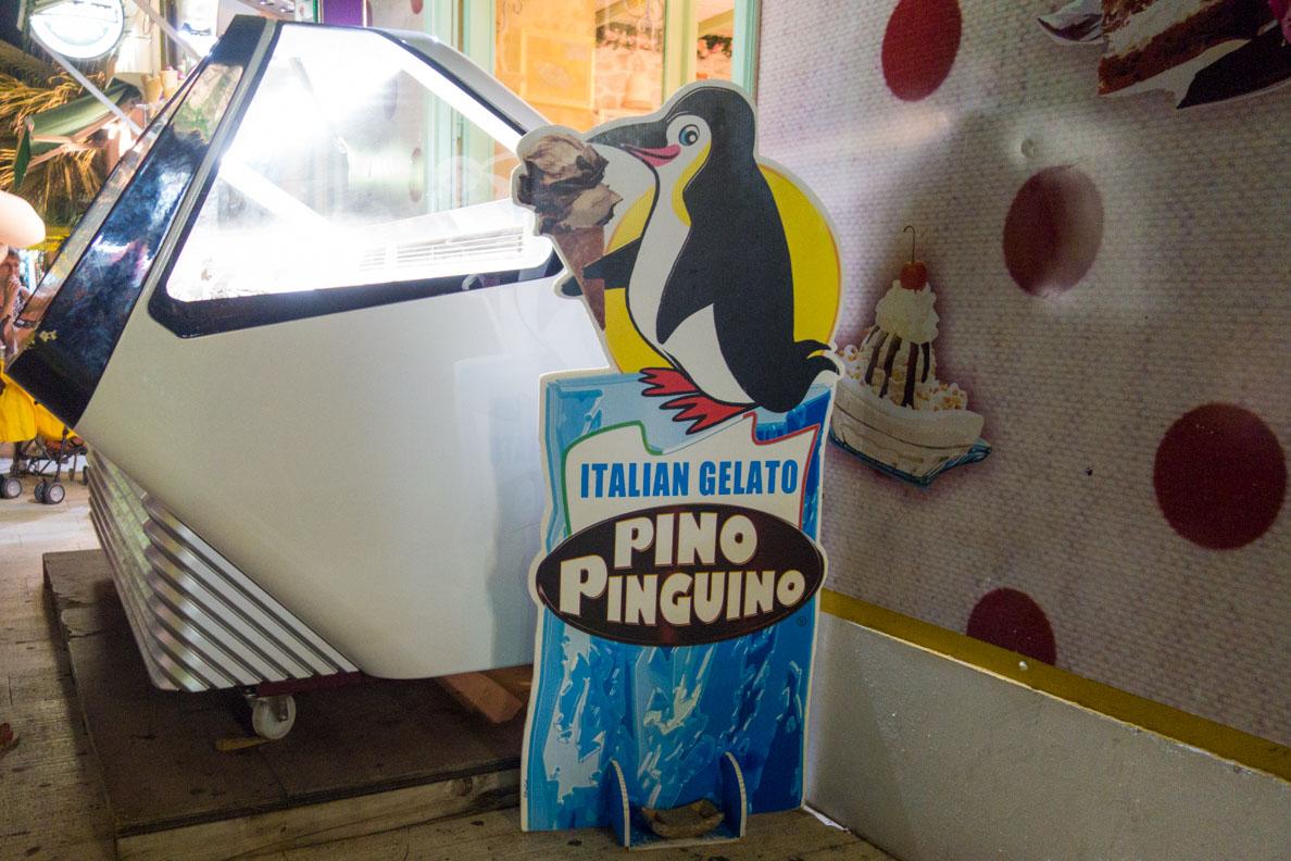 Die Eisdiele Pino Pinguino in Biograd