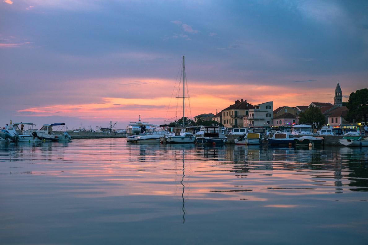 Der Hafen in Biograd/Kroatien