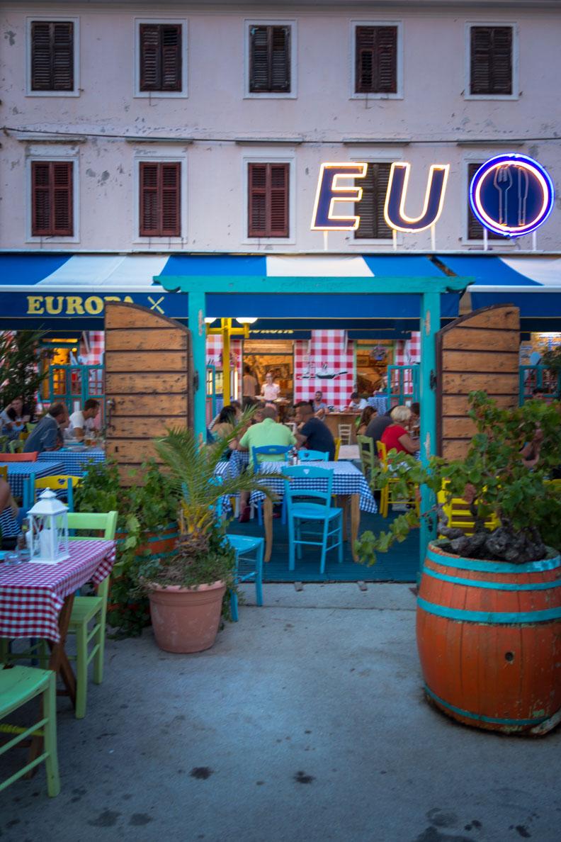 "Das Restaurant ""Europa"" in Biograd"