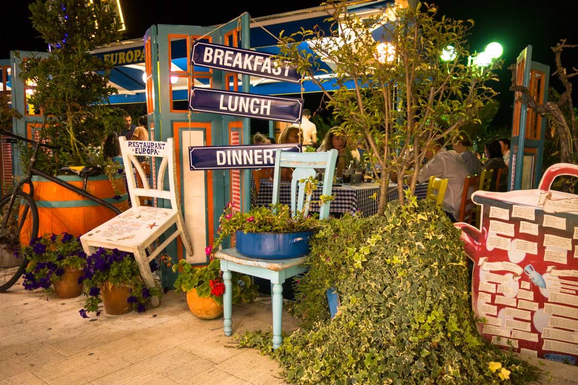 Ein gemütliches Restaurant in Biograd/Kroatien