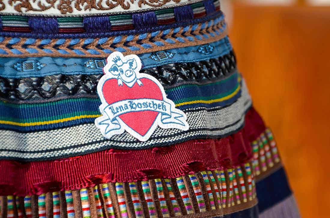 Der bunte Ribbon Skirt von Lena Hoschek