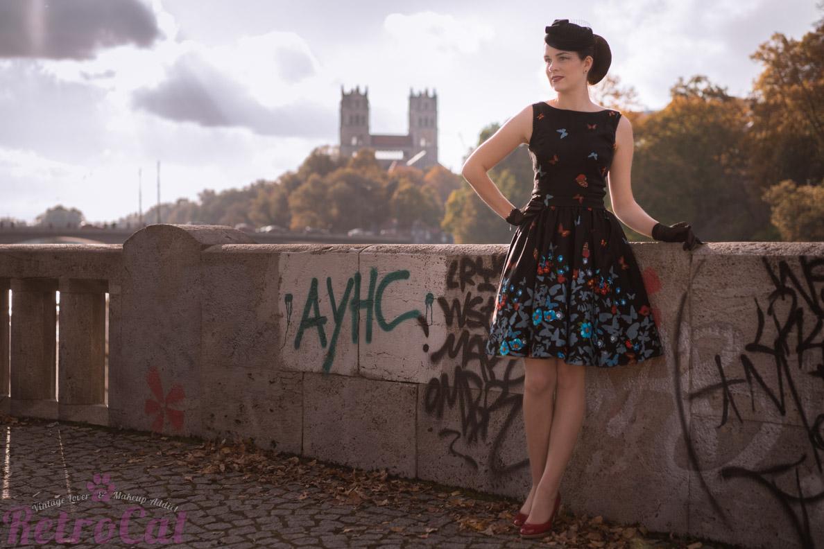 RetroCat mit dem Tea Dress von Lady V London in München