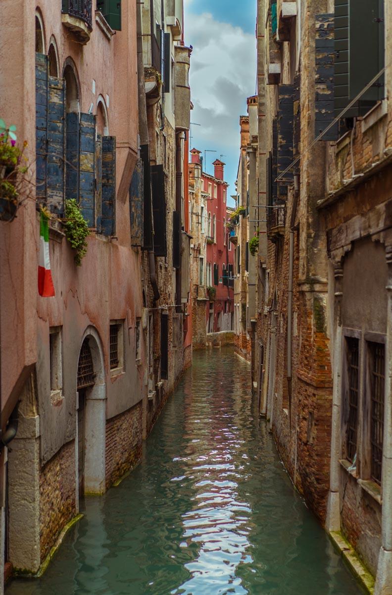 Klassische Häuser in Venedig