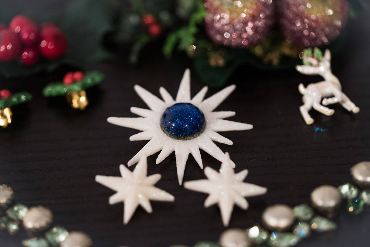 Glamour pur: Weihnachtliche Accessoires im Vintage-Stil