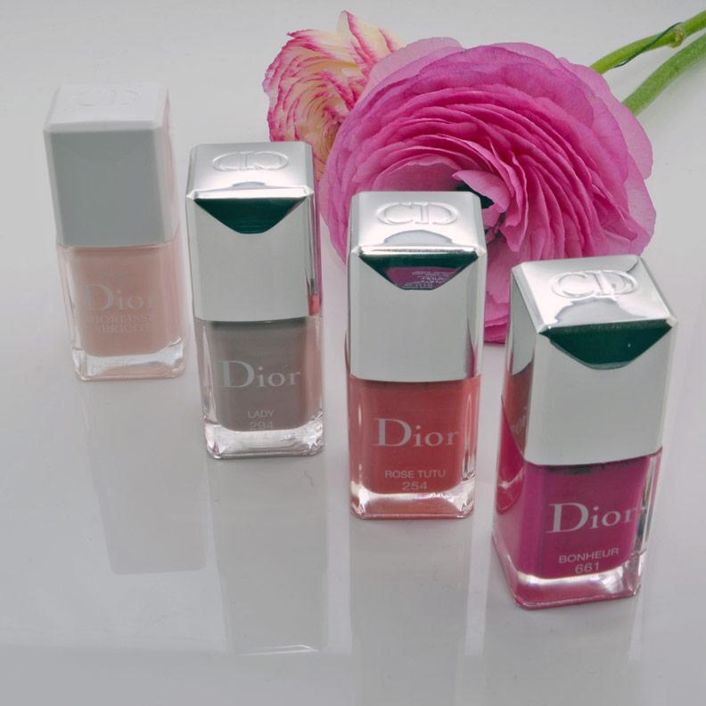 Pinke und rosa Nagellacke von Dior Vernis