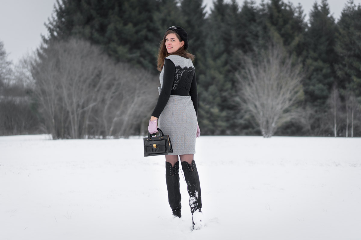modern meets retro: over-the-knee bootsbeyond skin and a
