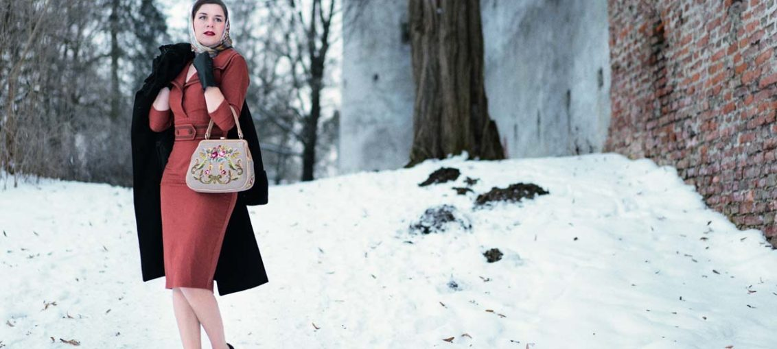 Winterblues adé: Ein elegantes Winter-Outfit im Vintage-Stil