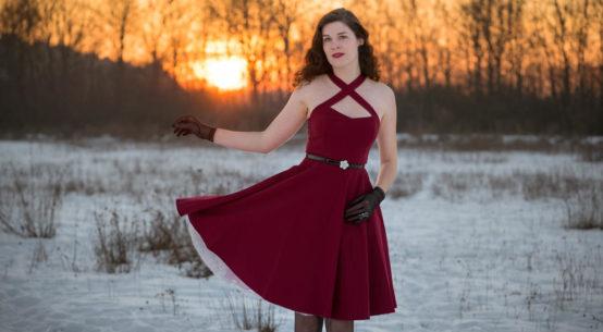 Für einen romantischen Look: Das Retro-Kleid