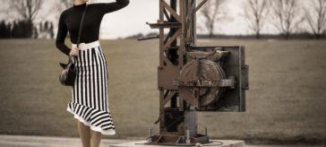 Streifzug im Streifenrock: Der Madison High Waist Skirt von Dolly and Dotty