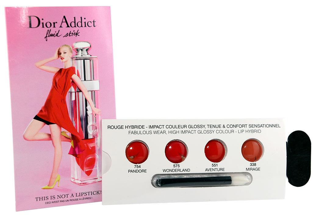 Eine Auswahl der verfügbaren Farben des Dior Addict Fluid Sticks