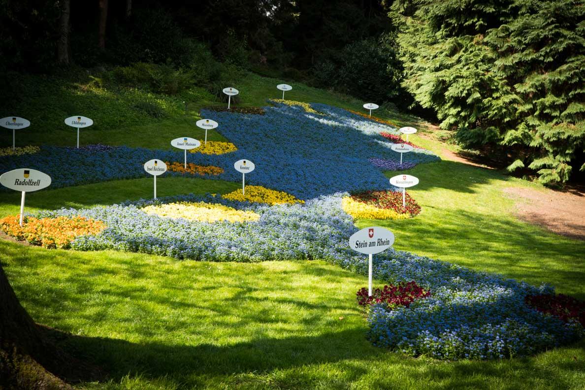 Der Bodensee und seine Insel geschaffen aus Blumen